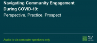 Navigating Community Engagement During COVID-19: Perspective, Practice, Prospect - 1.0 PDH (LA CES/HSW) / 1.0 AICP icon