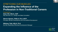 Stretching Our Muscles: Expanding the Influence of the Profession in Non-Traditional Careers - 1.0 PDH (LA CES/non-HSW) icon