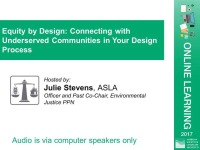 Equity by Design: Connecting with Underserved Communities in Your Design Process - 1.5 PDH (LA CES/HSW) icon