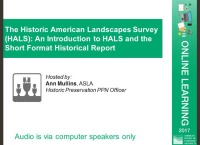 The Historic American Landscapes Survey (HALS): An Introduction to HALS and the Short Format Historical Report - 1.0 PDH (LA CES/HSW) icon