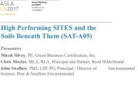 High Performing SITES and the Soils Beneath Them - 1.5 PDH (LA CES/HSW)