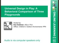 Universal Design in Play: A Behavioral Comparison of Three Playgrounds - 1.0 PDH (LA CES/HSW) icon