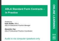 ASLA Standard Form Contracts – In Practice - 1.0 PDH (LA CES/non-HSW) icon