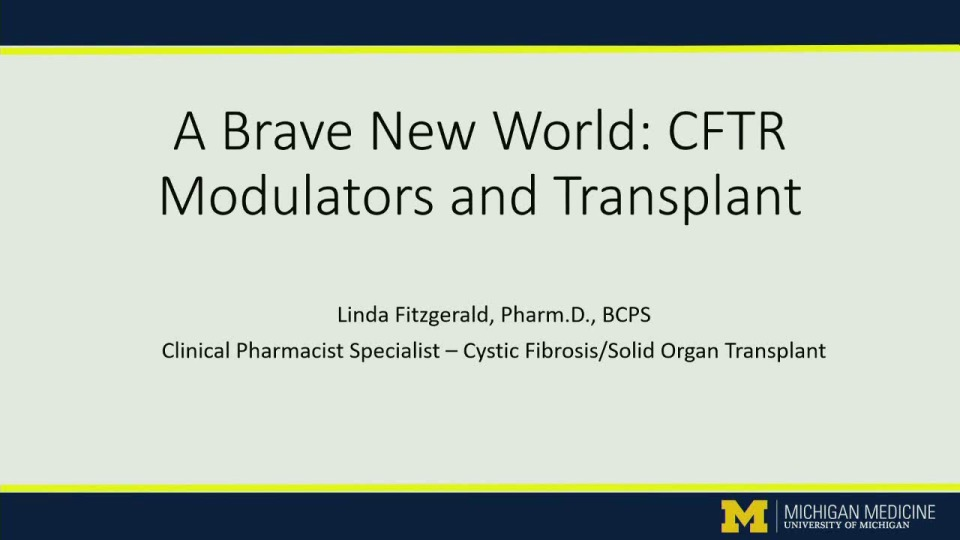 SC02--CLIN: Not Your Cookie Cutter Case: Complex Case Scenarios in Advanced CF Pharmacotherapy