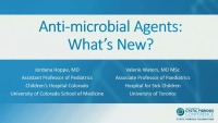 S04: INF/MIC: Antimicrobial Agents: What's New?