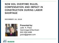 New DOL Overtime Rules, Compensation, and Impact in Construction During the Labor Shortage icon