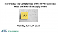 Interpreting the Complexities of the PPP Loan Forgiveness Rules and How They Apply to You: Q&A Panel icon