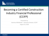 Find Your Path to become a Certified Construction Industry Financial Professional (CCIFP)     icon