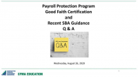 PPP Update: Recent SBA Guidance and Q&A icon