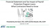 Financial Statement and Tax Impact of PPP Loans: What the Contractor Needs to Know icon