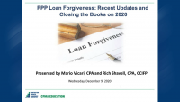 PPP Loan Forgiveness: Recent Developments and Closing the Books on 2020 icon