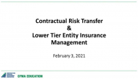 Contractual Risk Transfer and Lower Tier Insurance Management icon