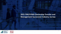 Ownership Transfer and Succession Planning: 2021 FMI/CFMA Industry Study icon