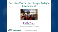 Secrets to Successful Hiring in Today's Environment icon