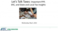 Let's Talk Taxes: Important PPP, ERC, and SALT Insights icon