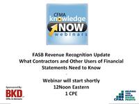 FASB Revenue Recognition Update - What Contractors and Other Users of Financial Statements Need to Know icon