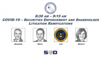 COVID-19 - Securities Enforcement and Shareholder Litigation Ramifications icon
