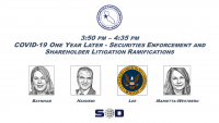COVID-19 One Year Later - Securities Enforcement and Shareholder Litigation Ramifications icon
