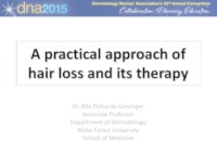 A Practical Approach to Hair Loss and Its Therapy icon