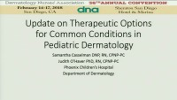 Update on Therapeutic Options for Common Conditions in Pediatric Dermatology icon