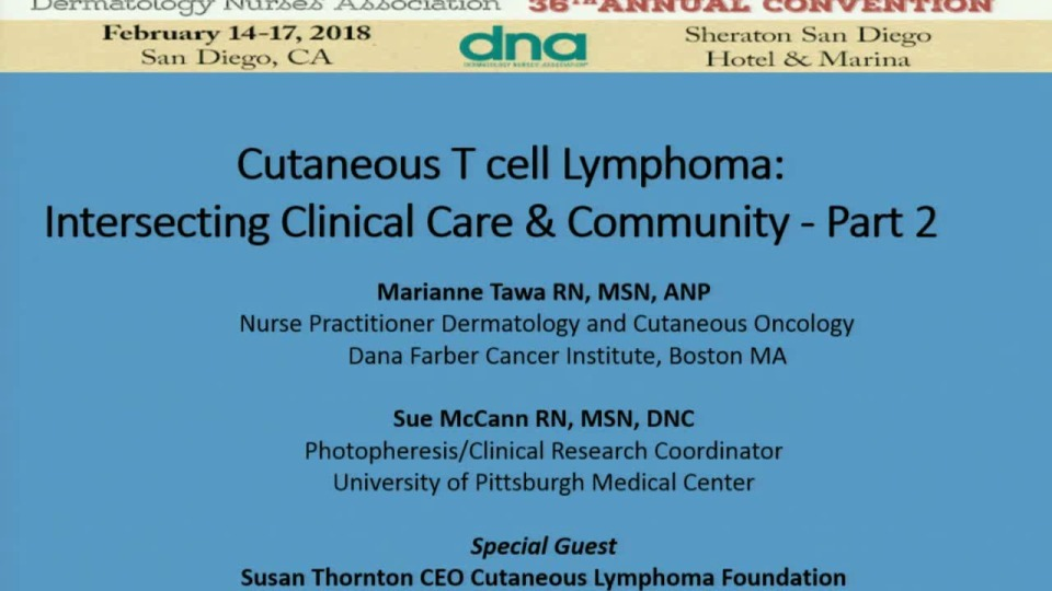 Cutaneous Lymphomas:  Intersecting Clinical Care and Community Part 2 icon
