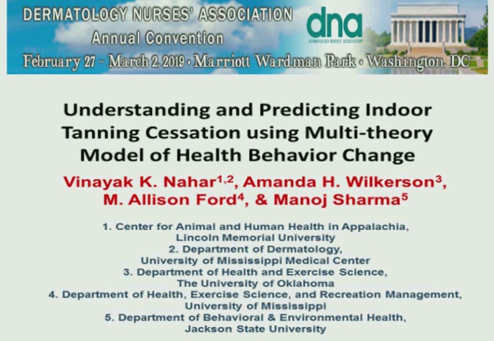 Understanding and Predicting Indoor Tanning Cessation Using Multi-Theory Model of Behavior Change icon