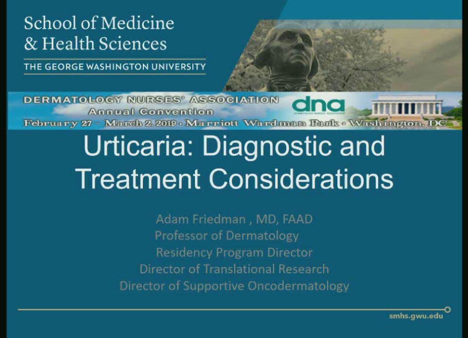 Urticaria: Diagnostic and Treatment Considerations icon