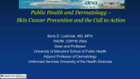 Public Health and Dermatology - Skin Cancer Prevention and the Call to Action icon