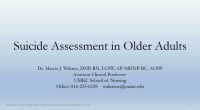 Preventing Suicide in Older Adults
