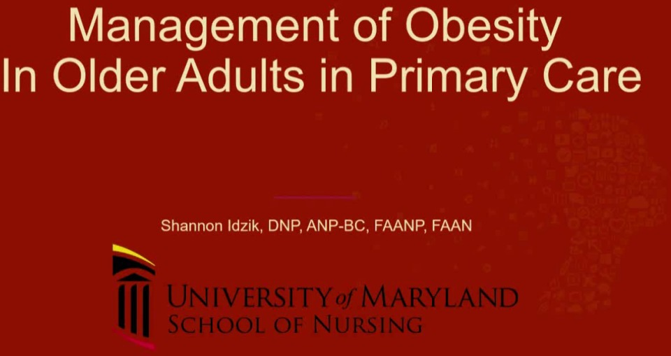 Management of Obesity in Older Adults in Primary Care