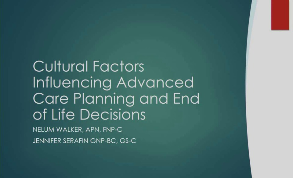 Cultural Factors Influencing Advance Care Planning and End-of-Life Discussions