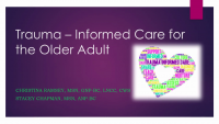 Trauma-Informed Care for the Older Adult