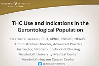 CBD and THC Use and Indications in the Gerontological Population icon
