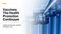 Vaccines: The Health Promotion Continuum icon