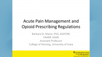 Acute Pain Management and Opioid Prescribing Regulations icon