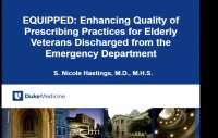Enhancing Quality of Prescribing Practices for Older Veterans Discharged from the Emergency Department: EQUiPPED