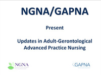 Updates in Adult-Gerontological Advanced Practice Nursing (GAPNA and NGNA Joint Webinar) icon