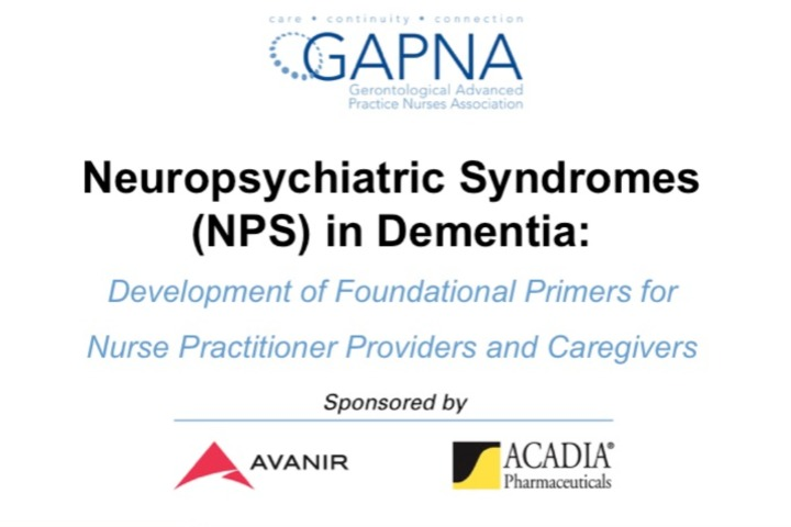 Neuropsychiatric Syndromes (NPS) in Dementia: Development of Foundational Primers for Nurse Practitioner Providers and Caregivers icon