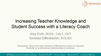 Increasing Teacher Knowledge and Student Success With a Literacy Coach icon