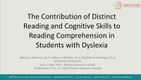 The Contribution of Distinct Reading and Cognitive Skills to Reading Comprehension in Students With Dyslexia icon