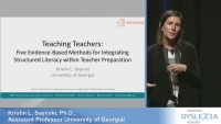Teaching Teachers: Five Evidence-Based Methods for Integrating Structured Literacy Instruction Within Teacher Preparation icon