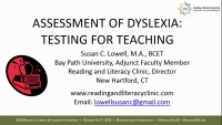 Dyslexia Testing for Teaching and Beyond: Identification of Dyslexia K-12, College, University, and Workplace icon