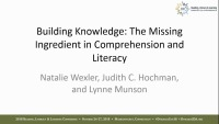 Building Knowledge: The Missing Ingredient in Comprehension and Literacy icon