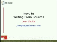 Writing From Sources: Instructional Practices and Scaffolds icon