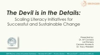 The Devil is in the Details: Scaling Literacy Initiatives for Successful and Sustainable Change icon