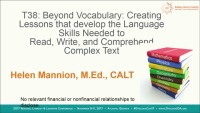 Beyond Vocabulary: Creating Lessons That Will Develop the Language Skills Needed to Read, Write, and Comprehend Complex Text icon