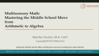 Multisensory Math: Mastering the Middle School Move From Arithmetic to Algebra icon