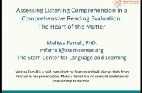 Assessing Listening Comprehension in a Comprehensive Reading Evaluation: The Heart of the Matter