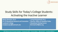 Study Skills for Todays College Students: Activating the Inactive Learner icon