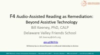 Audio-Assisted Reading as Remediation: Beyond Assistive Technology